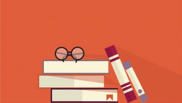 glasses and books illustration
